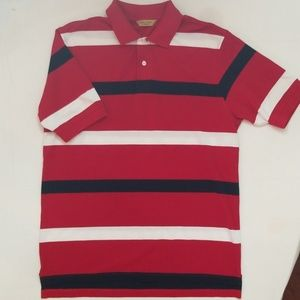 Red, White and Blue Men's Polo Medium